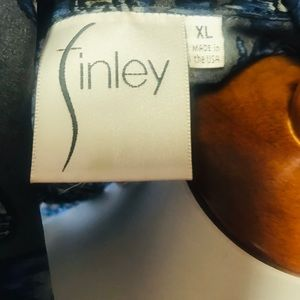 Finley Tops - Finley Women's Color pattern Sheer Blouse Size XL